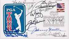 SIGNED LEGENDS OF GOLF FDC AUTOGRAPHED FIRST DAY (13 SIGS) - PGA HOF
