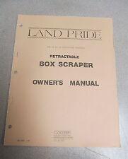 Land Pride Retractable Box Scraper Owner's Owners Manual 1987