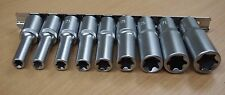 "9 PC Deep E Torx Star Female Bit Socket Set 1/2"" Drive E10 -E24"