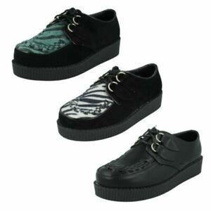 Ladies Spot On Creeper Style 'Platform Shoes'