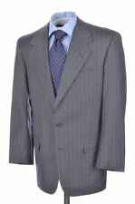 OXXFORD CLOTHES Recent Gray Striped Super 120 Wool Jacket Pants SUIT Mens - 40 R