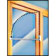 "Charley Bar for Sliding Patio Glass Door, 48"" Bar White"