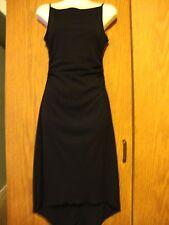 Ruby Rox 100% Polyester Black Bias Hem Ruched Side Tank Dress S