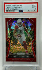 2019 Panini Prizm  Larry Fitzgerald  RED SHIMMER  Serial #1/15  PSA 9  ~ POP 2 ~
