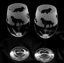 More details for bernese mountain dog wine glasses..boxed