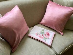 Laura Ashley LARGE Nigella Velvet Cushion In Truffle Velvet £50 RRP