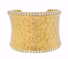 ancho 5.50 cts Diamante Brazalete BRAZALETE EN 18ct Oro Amarillo - hm1811