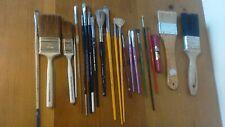 Lot of 22 Paintbrush Paint Brushes Grumbacher Bob Ross Wilton + Painting