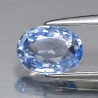 0.84ct 6.8x5mm VVS Oval Natural Light Blue Sapphire Ceylon, Heated Only