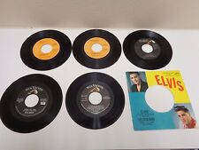 Elvis Presley Lot of 5 RCA 45 Records Fame Fortune Latest Flame Burning Love EPA
