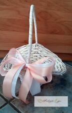 1 Streukörbchen Blumenkörbchen Korb Weiß Hochzeit Deko Blumenmädchen Apricot