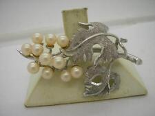 Pearl Silver Brooch/Pin Art Deco Fine Jewellery