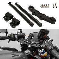 For Ducati Monster 696 796 1100 CNC Clip On Handlebar Adapter Plate Hand Grips