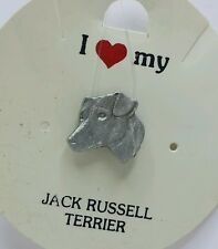 I Love My _ Jack Russell Terrier _ Dog Pin _ Rawcliffe Pewter 1983
