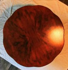 Antique French Provincial Round Coffee Table, Solid Wood