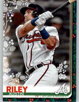 2019 Topps Holiday AUSTIN RILEY Base Card Braves Rookie RC #HW76