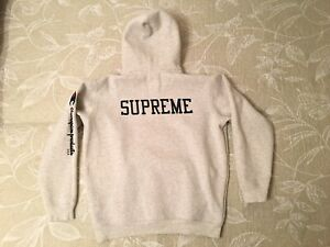 Supreme New York x Champion Pullover Hooded Sweatshirt Grey Size Large 16F/W