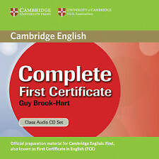 Complete First Certificate Class Audio CD Set, Brook-Hart, Guy, Excellent, Audio