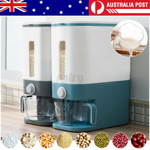Auto Grain Case Cereal Dispenser Storage Box Kitchen Food Rice Container 10Kg AU