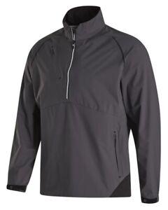 Footjoy Dryjoys Select LS Golf Rain Shirt, Medium, Charcoal w/ Black, 35381