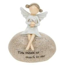 Small Angel figurine sat on Stone, Sentimental quote