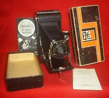 KODAK JUNIOR SIX - 16 FOLDING CAMERA AND KA  f6.3 LENS IN ORIGINAL BOX W/ PAPERS