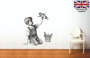 BANKSY GAME CHANGER NHS WALL ART STICKER - 3 x sizes - Great decal for any room