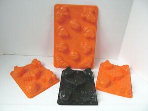 Jell-o Jigglers Halloween Jello Molds Set of 4 Pumpkins Bat Witch Cat Ghost E