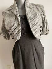New listing Vintage 1950s Gray Wool Dress Suit S/M