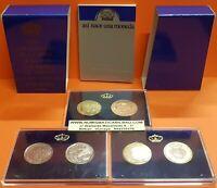 5 monedas 500 PESETAS 1987 España PRUEBAS FNMT XXV ANIVERSARIO BODA DE LOS REYES