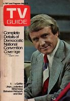 1972 TV Guide July 8-Merv Griffin; Susan Sullivan; Richard Castellano; Democrats