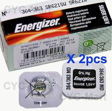 2 pedazo x Energizer 364 SR621SW Óxido de plata Pilas GRATIS WW POSTE