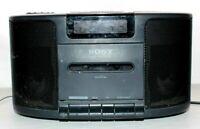 Vintage Sony ICF-CS650 Dream Machine Dual Alarm Clock Radio with Cassette Player
