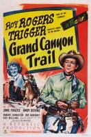 OLD LARGE ROY ROGERS COWBOY MOVIE POSTER, Grand Canyon Trail 1948