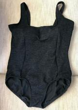 SWIMSUIT CLASSIC BLACK CREPE FULLY LINED, BUILT IN SHELF BRA. SEE MEASUREMENTS.