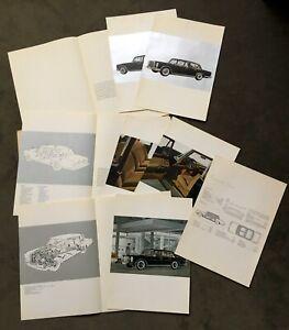 MERCEDES 600 W100 1963 riesige Prospekt-Mappe/large Brochure-Portfolio (Pullman)