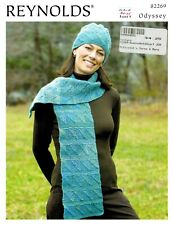 New listing Knitting Pattern by Reynolds Dominoe Scarf and Hat
