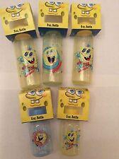 Sponge Bob Nickelodeon Baby Bottles (3) 8oz & (2) 5oz BPA free Lot Of 5