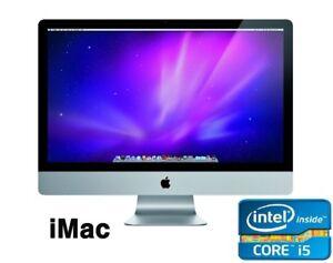 "Apple iMac 21.5"" Mid 2011 12,1 Intel Quad Core i5 2.50GHz 256GB SSD 8GB OS X EI"