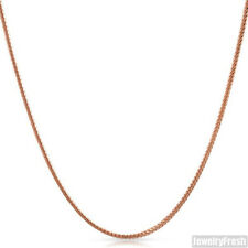 1.5mm 14k Rose Gold Finish 925 Silver Franco Chain Necklace