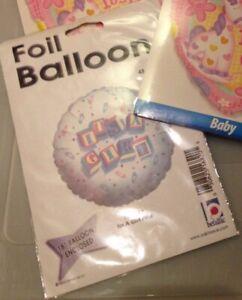 FOIL ROUND BALLOON MULTICOLOURED BABY GENDER REVEAL BNWT HELIUM FOIL BALLOON