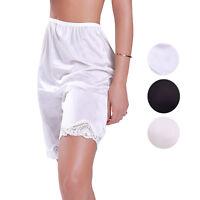 Women's Illusion Classic Trouser Pants Half Slip With Lace Trim 1037