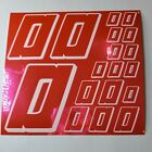 PINK CHROME w/White  #0's Decal Sticker Sheet DEFECTS  1/8-1/10-1/12 RC Mo BoxD