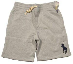 Polo Ralph Lauren Boys Grey Heather Big Pony Fleece Lined Shorts