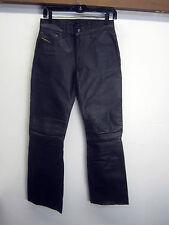 vtg Diesel Industry Denim Division Leather Pants black lined sz 27x31 EUC!