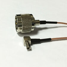 """TS9 right angle to N male plug RF pigtail cable RG178 15cm 6""""  for ZTE MF60 MF61"""