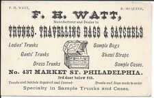 Business Card, Trunks, Travelling Bags & Satchels, Philadelphia, c1880
