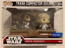 Funko Pop Star Wars  Moments Trash Compactor Escape LEIA & LUKE #224