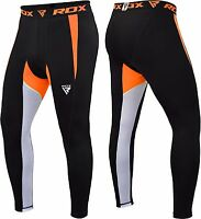 RDX Men's MMA Compression Pants Running Exercise Base Layer Tight Cycling Sport,