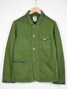 KOI KINGS OF INDIGO DAVID ARMY GREEN Men's SMALL Organic Denim Jacket 37439_GS